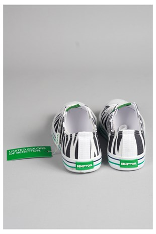 United Colors Of Benetton Bn30179  Convers Model Keten Ayakkabi Zebra